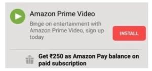 Amazon Prime Membership - Get Prime Membership at Rs 249 Only