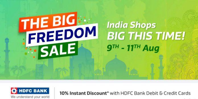 Flipkart Big Freedom Sale Offers (9th-12th Aug) – Get Upto 90% Off