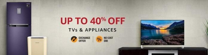 Amazon TV and Appliances Sale