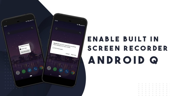 How to Enable built-In Screen Recorder on Android 10