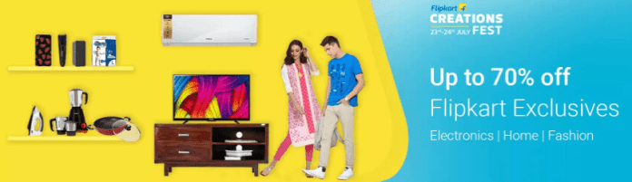 Flipkart Creation fest sale