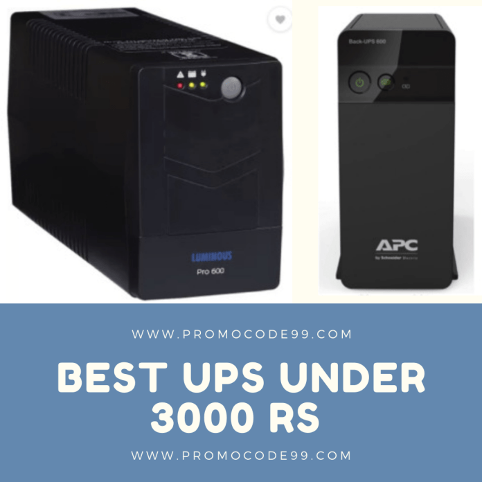 Best UPS Under Rs 3000 for PC in India