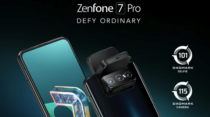 Asus Zenfone 7 Pro with Snapdragon 865 Chipset