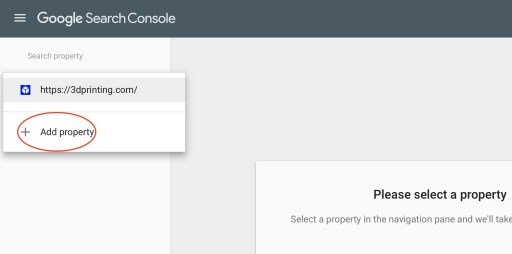 Google Search Console Add Property