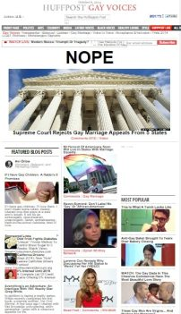 Laverne Cox featured in just one of Snow's podcasts featured on the front page of The Huffington Post's Gay Voices (now Queer Voices) section.
