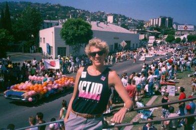 Nicholas Snow at LA Pride, 1988.