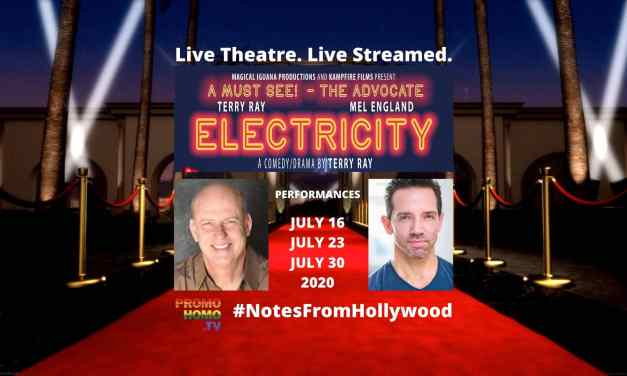 ELECTRICITY: Live Theatre. Live Streamed. Meet Playwright/Star Terry Ray & Co-Star Mel England