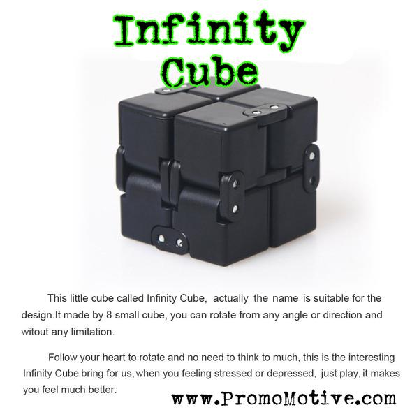 Fidget, fidget cube, fidget infinity, infinity fidget cube, infinity, infinity cube, infinity cube for logo, infinity cube for tradeshow, edc, adhd, promotional, product, tradeshow, conference, gift, giveaway, anxiety, personalized, wholesale, imprinted, asi, distributor, supplier, logo, marketing, sage, geek, swag,