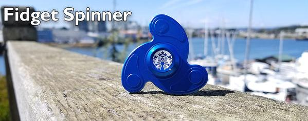 premium fidget spinner for tradeshow and swag