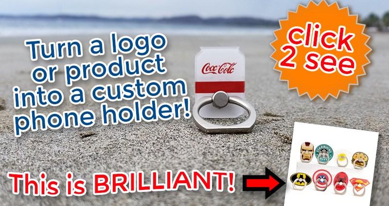 custom shaped popsocket style phone grip to