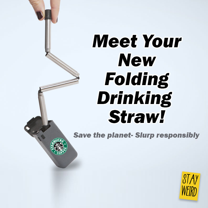 meet the new folding collapsible drinking straw