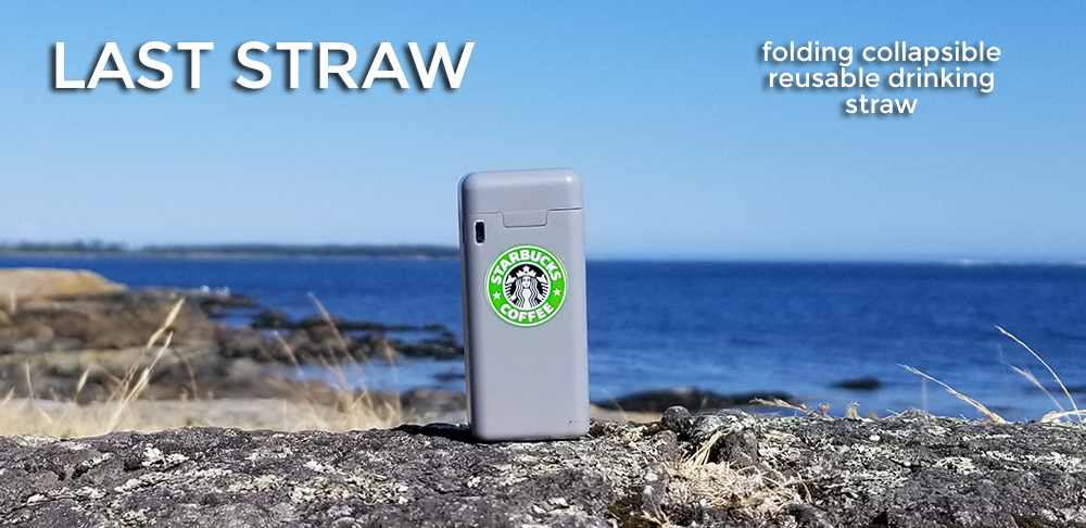 grey starbucks folding reusable drinking straw
