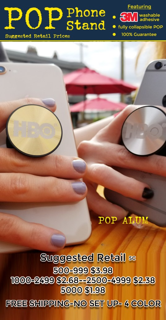 POP phone stand coded prices for pop alu gold and silver