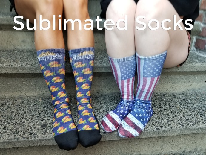 custom promotional sublimated socks for promo