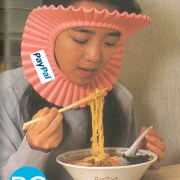 splash guard . Noodle splash guard one of the worlds weirdest promotional products.