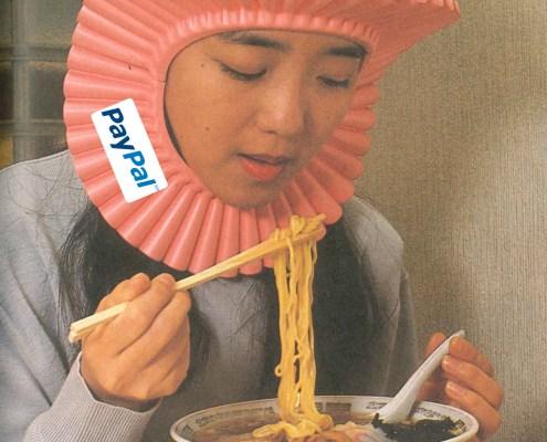 splash guard . Noodle splash guard one of the worlds weirdest promotional products.