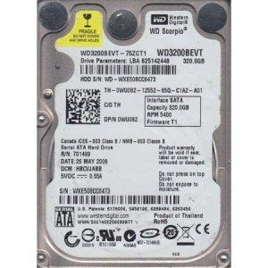 Disque Dur HD 320 Go 2.5″ WD 5400RP