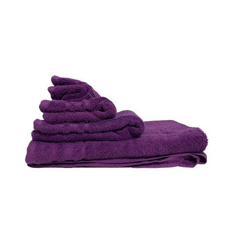 Promotion : ZAYESTORE lot de 4 serviettes – Violet