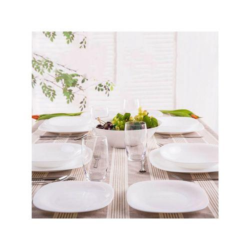 Promotion : Luminarc service de table – Carine – 18 Pièces – Blanc