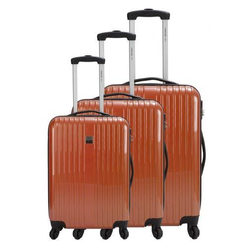 Promotion : France Bag set de 3 valises de voyage incassables – Orange