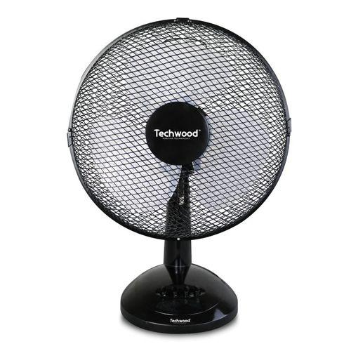 Promo : Techwood ventilateur de table noir – 3 Vitesses