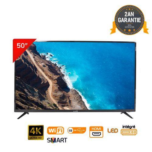 Promo : Telestar LED TV 50″ UHD 4K DOLBY SMART ANDROID – Démo intégré + Support Mural