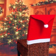 Santa Chair Covers Sets Lee Industries Snagshout Liwei18 Hat Red Kitchen Back For Christmas Holiday Decor Set Of 4 Pcs
