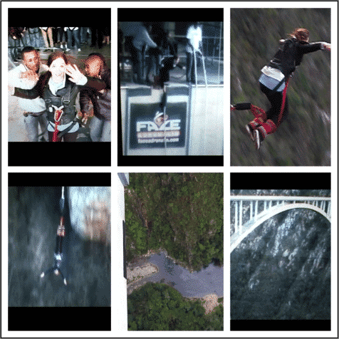 Taylor at Bloukrans Bungee Jump 709 feet, Plettenberg Bay, South Africa