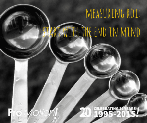 measuring roi-start with the end in mind