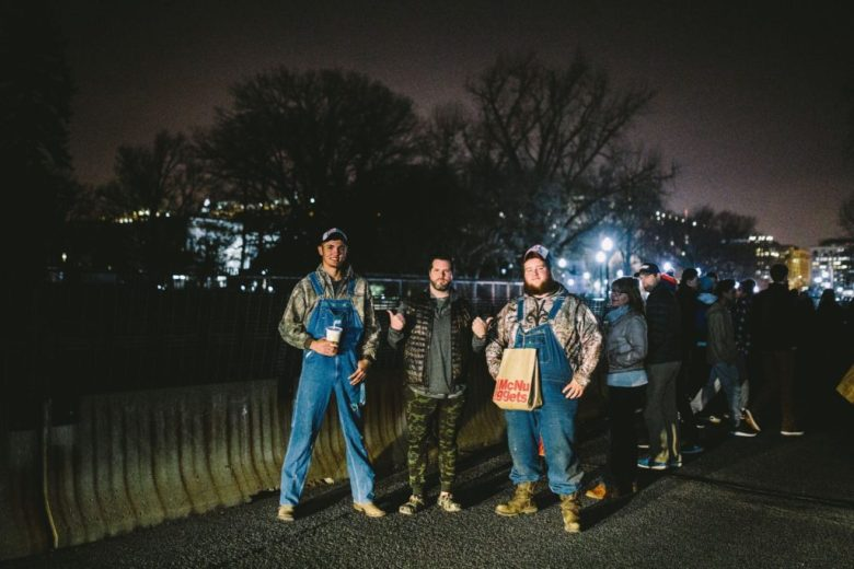 XVALA at Trump Inauguration with other attendees, Washington DC for his MAGA film 2017 - Promotional Materials