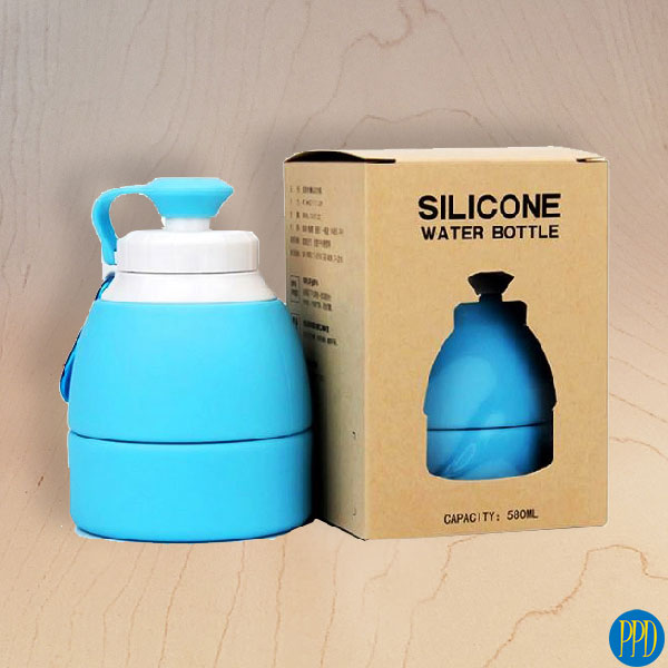 folding packable silicone water bottle promotional product direct