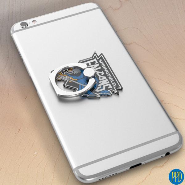 custom logo shape acrylic phone stand ring holder
