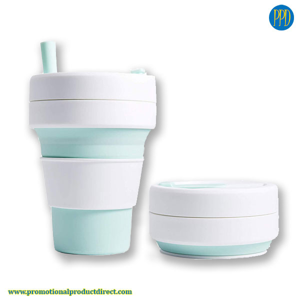 collapsible folding silicone coffee cup