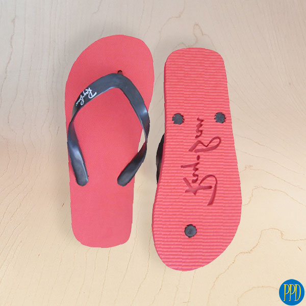 custom logo beach flip flop sandals