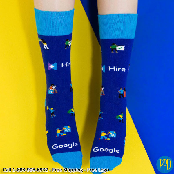 custom knit promotional socks
