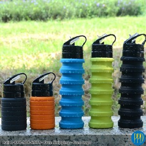 folding collapsible silicone bottle