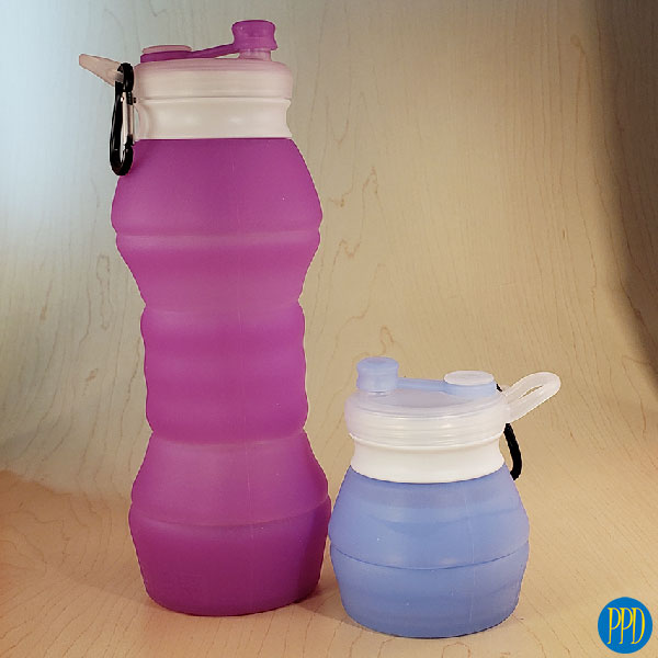 giveaway-packable-silicone-water-bottle-logo-promotional-product