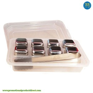 custom stainless steel ice cubes promotional product