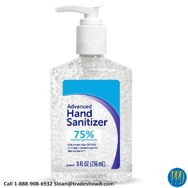 8 ounce alcohol hand sanitizer gel formula