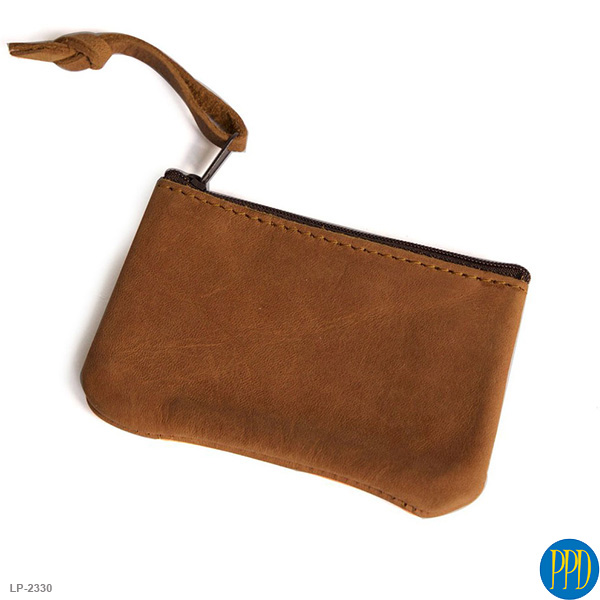 custom leather zippered bag
