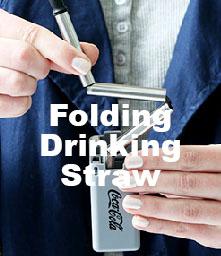 folding drinking straw