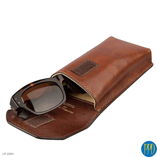 leather promotional products eye glass case LP 2301