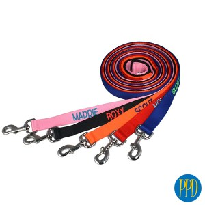 Custom dog leash.Custom designed dog walking leashes. Availalable in woven or solid leather. Customized logo or private label available.Promotional Product Direct.