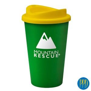 recycled plastic reusable coffee mug