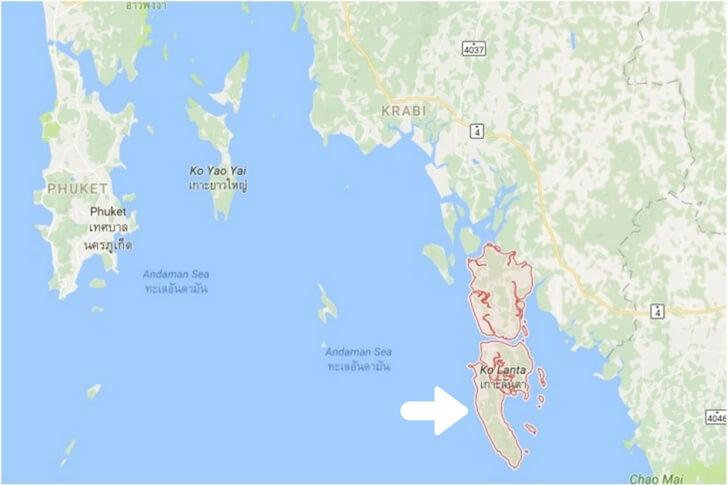 Things to do on Koh Lanta - Koh Lanta Map