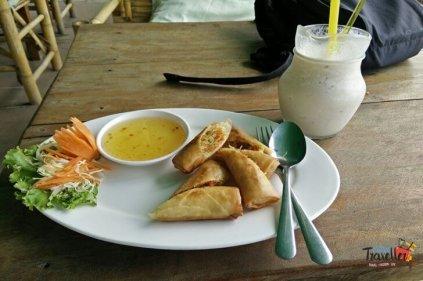 to do on Koh Lanta - Fried Veg Rolls