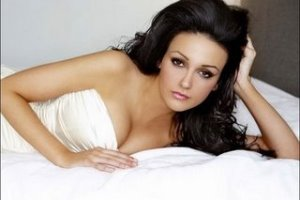 Michelle Keegan, White Dress, White Sheets