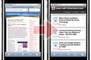WP Touch, iPhone, WordPress