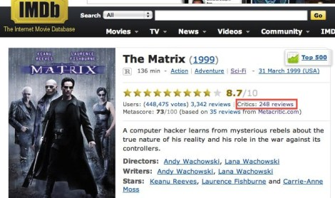 IMDb External Reviews, 01