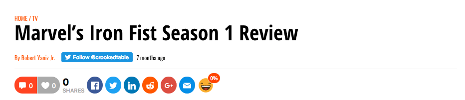 Misleading TV Season Review Title